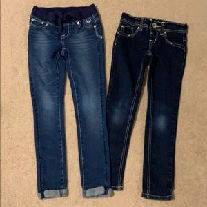 Two pairs of Justice jeans